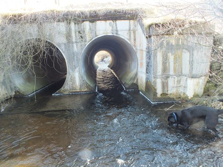 Twin culvert pipes