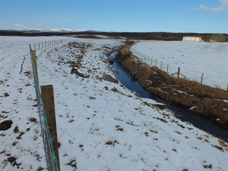 Complete fencing in lower reaches of burn