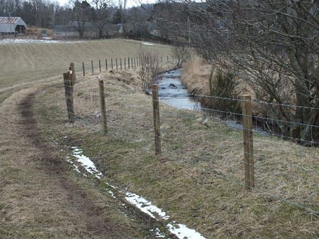 Glenbeg Burn fencing. This will protect and improve the habitat downstream of the culvert.
