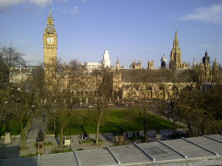 The magnificent view from the balcony of the Royal Instutute of Chartered Surveyors