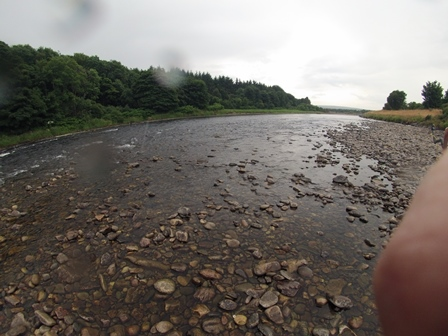 Brae beat 4 site. It rained whilst we fished this site, the first time for weeks.