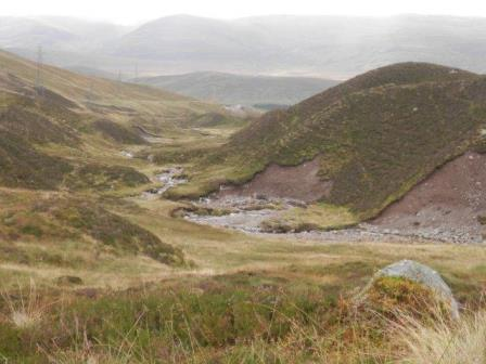 The wild country of the upper Allt Yairack