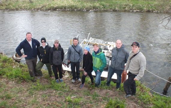 Ian Gordon with the group of Sport Fishing Students from Norway.