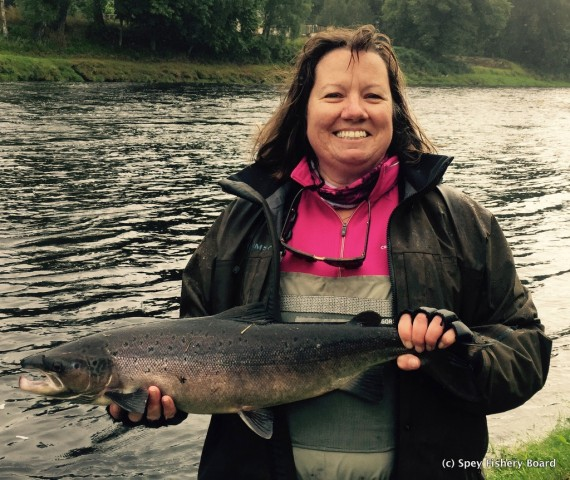 Ruth Hosker with Carron's 200th fish