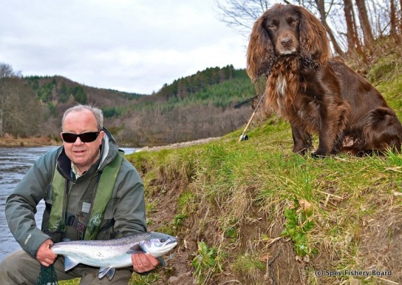 Handsome boys Delfur. Neil Cameron holding his fish.
